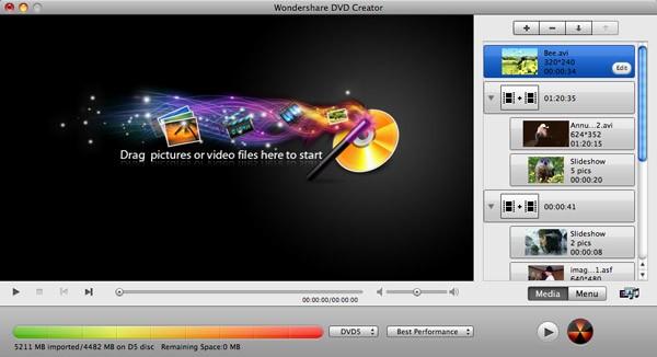Wondershare DVD Creator for Mac guide